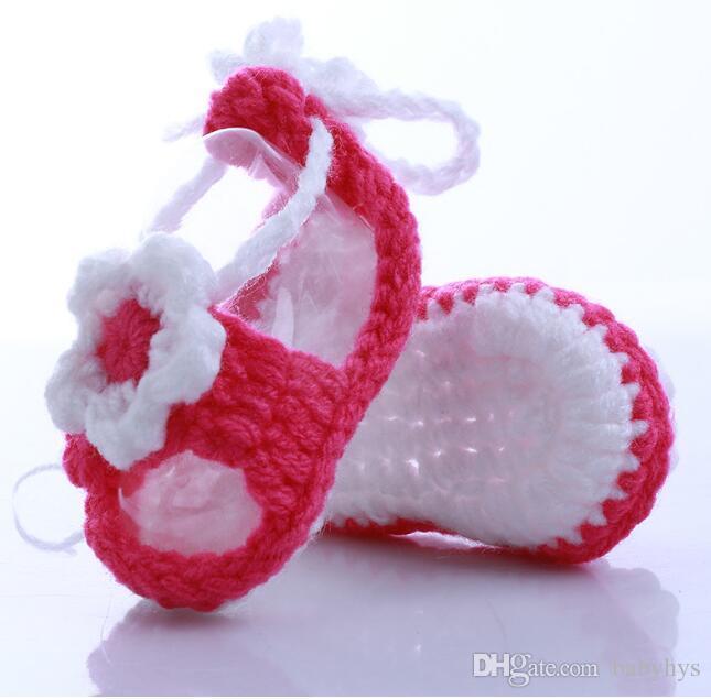 personalizado su logotipo bebé zapatos de flores hechos a mano encantadoras niñas de las flores y niño tamaño 11 cm para recién nacidos niños zapatos 10 unids / lote