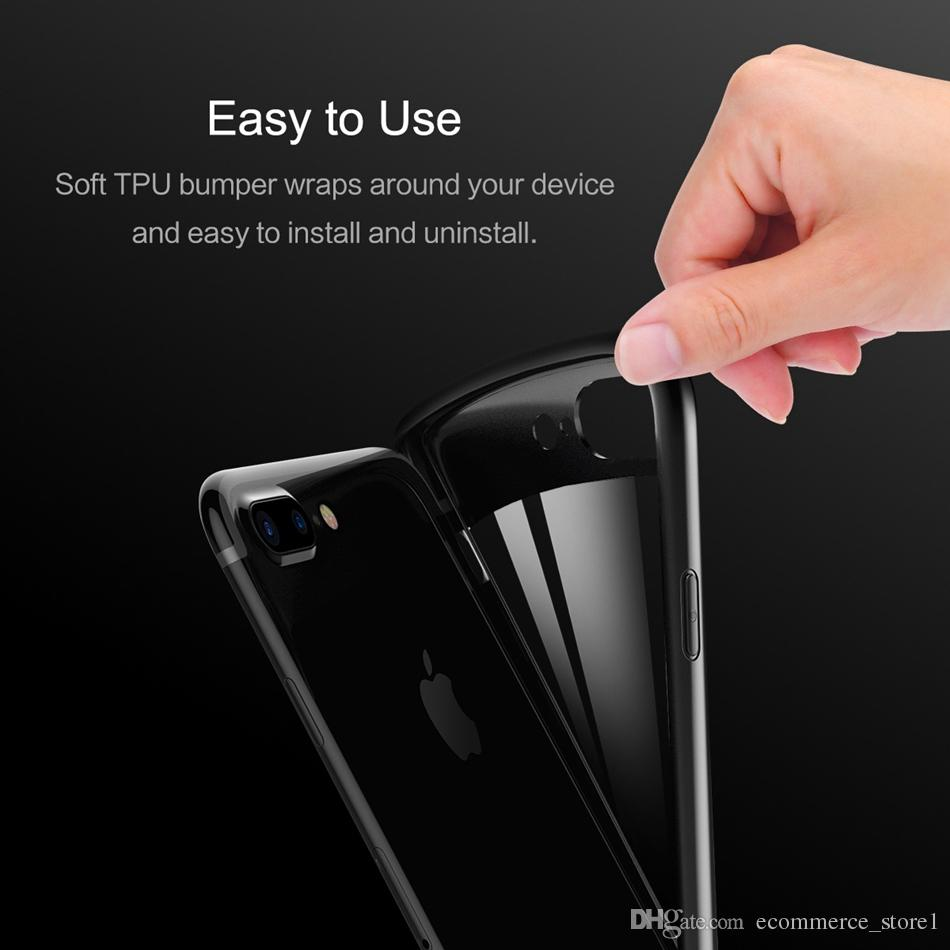 아이폰 8 7 6 케이스 백 커버 케이스 TPU 클리어 충격 방지 케이스 휴대 전화 수호자 아이폰 8 플러스 아이폰 X 전화의 경우