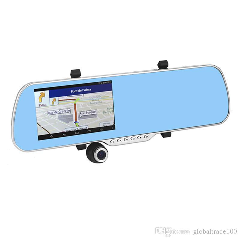 5-calowy Android Car Lustro Nawigacja GPS X5 Car DVR WiFi HD 1080P Digital Video Recorder + Kamera widok z tyłu A23 8 GB z mapą