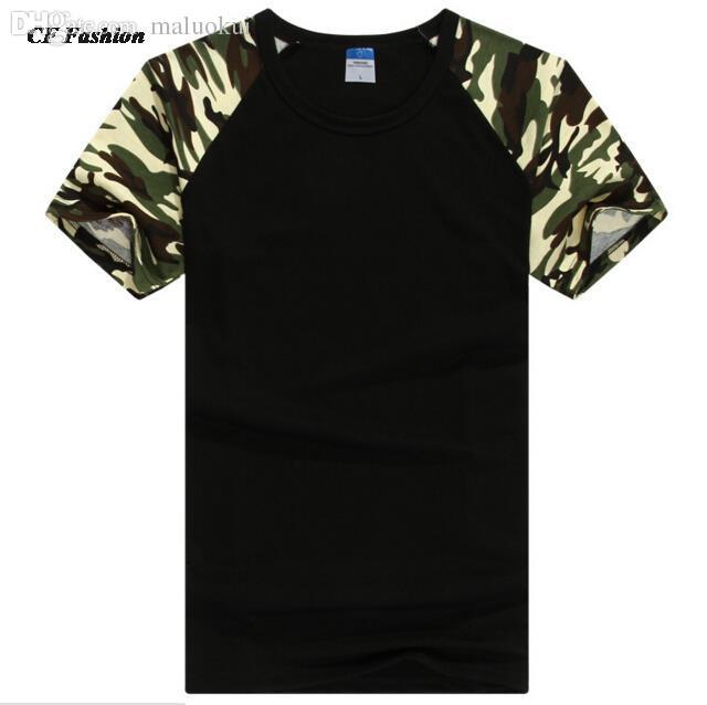Wholesale 2016 New T Shirt Men Designer Camo Brand Clothing Army Tees T  Shirt Color Short Sleeve Cotton Tshirt Homme Hip Hop Print Shirt Long Sleeve  Tee ... 7df10238435
