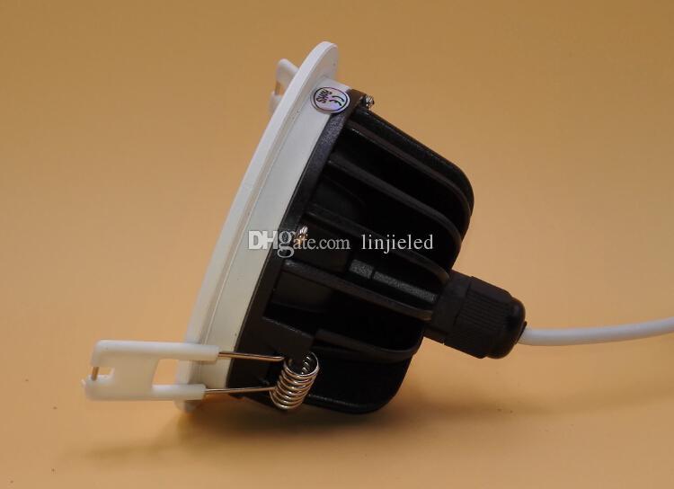 Toptan - Süper Güç LED'i COB 10W / 15W COB LED Sıva AC110-240V Su geçirmez IP65 COB LED Gömme Tavan Aşağı Işık