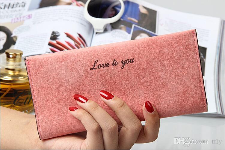Dame européenne Sacs À Main pour Femmes Matte En Cuir PU Portefeuilles luxe Main Bourse Porte-cartes Porte-monnaie De Mode Ultrathin Clutch Ladies Hangbags DHL