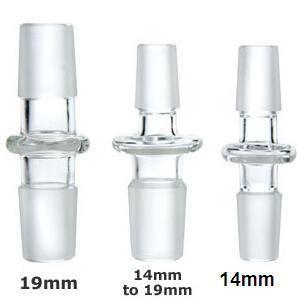14mm 18mm 10 Styles Verre Dôme Adaptateur Mâle à Mâle Convertisseur De Verre Mâle à Femelle Joint Verre Eau Bongs Adaptateur
