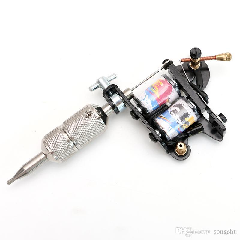 Novo Ferro Handmade Tattoo Machine Liner Dupla 10 Envoltório Bobinas para Gun Tattoo Supplies Frete Grátis TM3055-3056