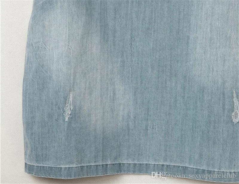 Kleider für 2015 Frauen-Denim-Kleid losen kurzen Hülsen-Jeans-Kleid O Ansatz beiläufigen Frauen Gewaschene wulstigen eleganten Abend-Partei-Dame-Kleider 5XL