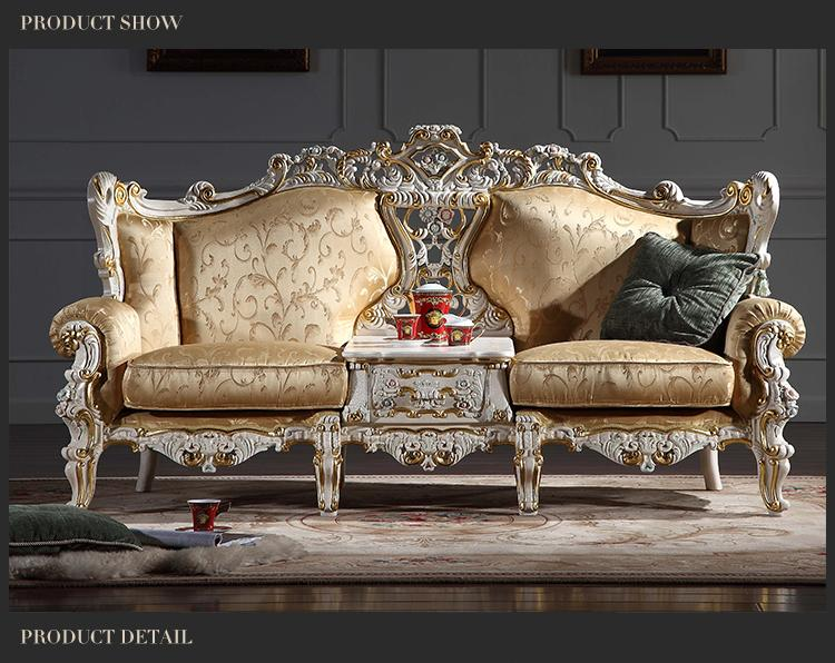 Großhandel Rokoko Stil Klassisches Wohnzimmer Möbel European Classic Sofa  Set Mit Knallender Farbe Italienischen Möbeln Luxus Von Fpfurniturecn, ...