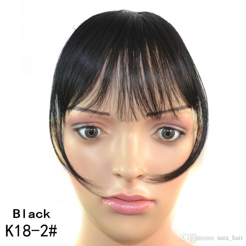 Sara Bang 10*20CM,100% Real Human Hair Bang Fringe Natural Hair Clip in Bangs Pieces Hairpieces Franja Hairdo Black Brown Bangs extension