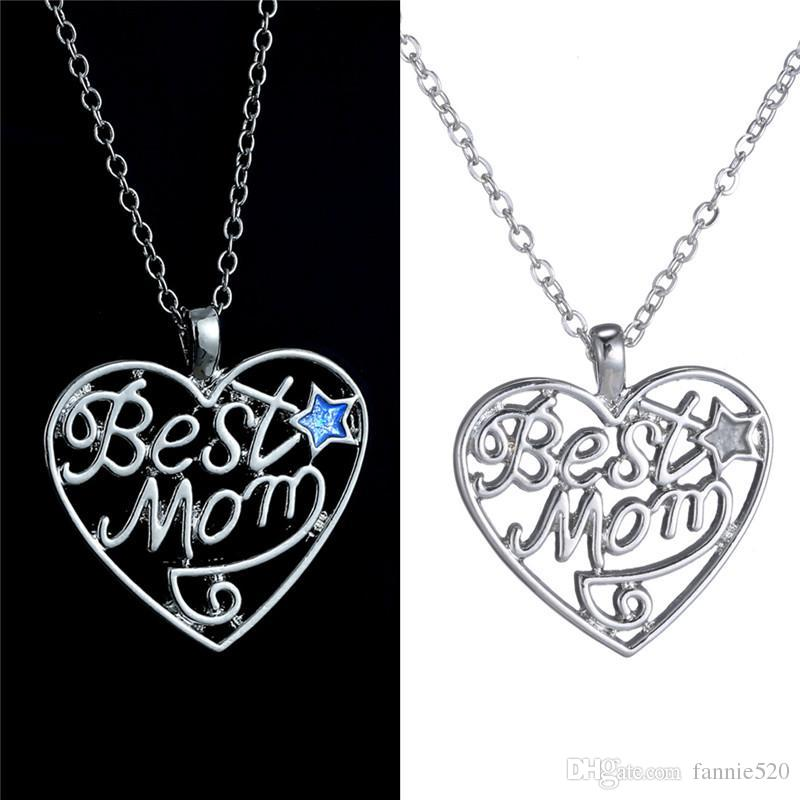 Wholesale 2016 Alloy Best Mom Necklace Pendant Necklace Christmas ...