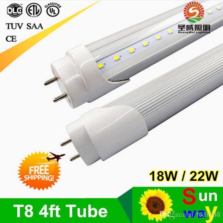 2019 4ft 1 2m 4 Feet T8 Led Tube Bulb Lights 18w 20w 22w