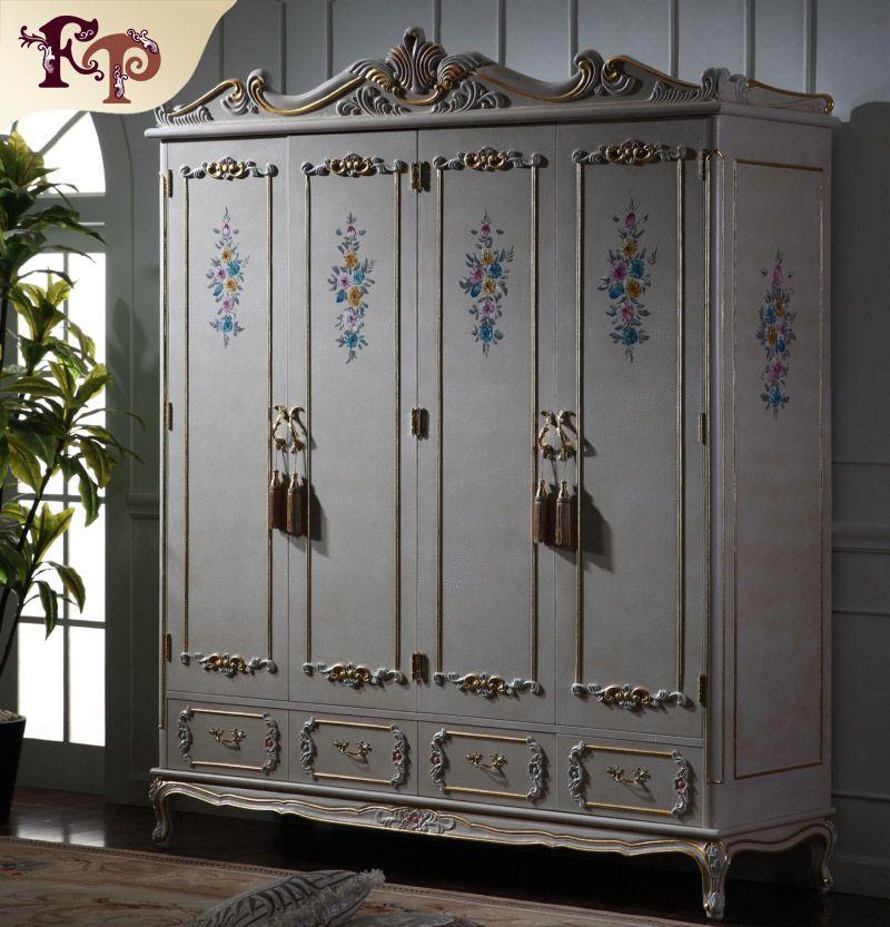 Compre Muebles Clásicos Antiguos Cama Barroca Muebles De Dormitorio ...