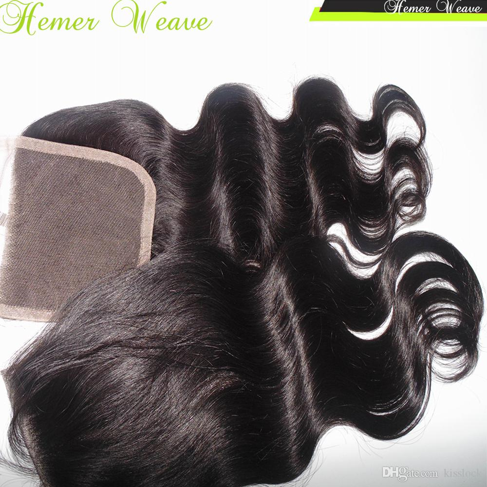 Hair Accessories Lace Top Closure Remy Virgin Indian Temple Hair French Lace Body Wavy