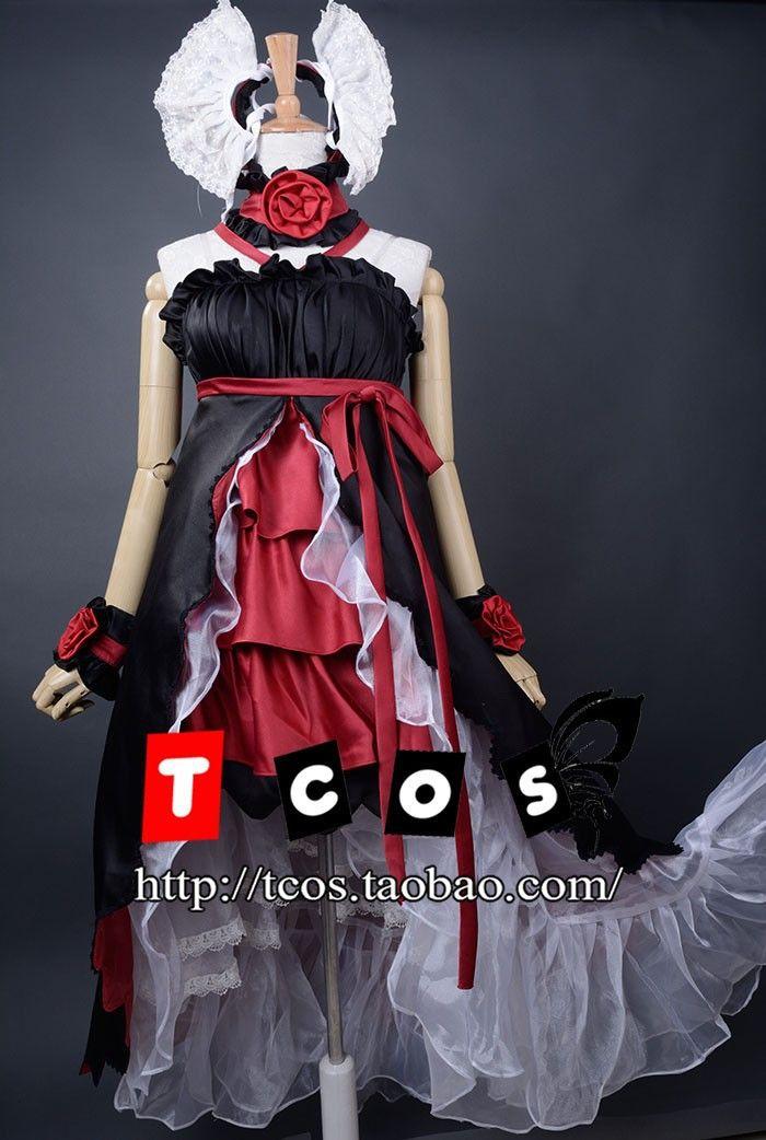 Spedizione gratuita Anime Vocaloid Mago cosplay vestiti di sonno Loro Rita cameriera vestito costume le donne / ragazza la festa / natale