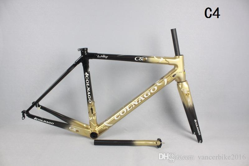 Hotsale Gold Carbon Road Frame C60 T1000 Cabon Fiber Bike Frame ...