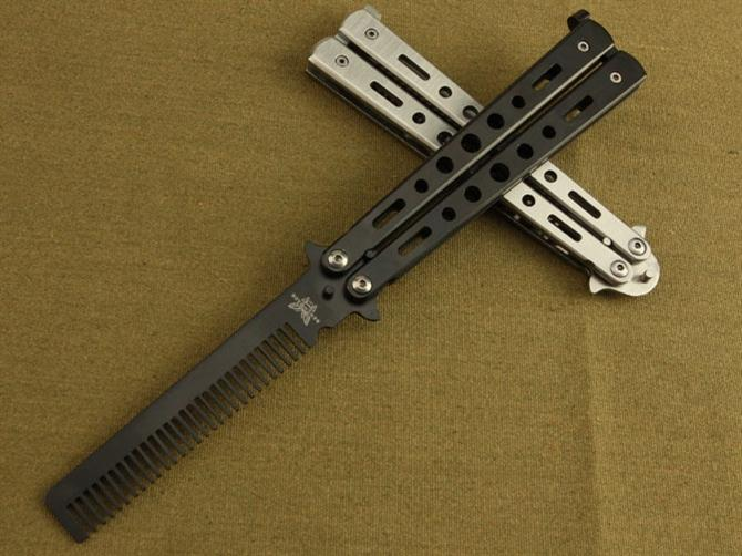 Cheapest Benchmade Comb Practice Balisong Knives Hunting Tactical 5cr13mov 56hrc Camping ...