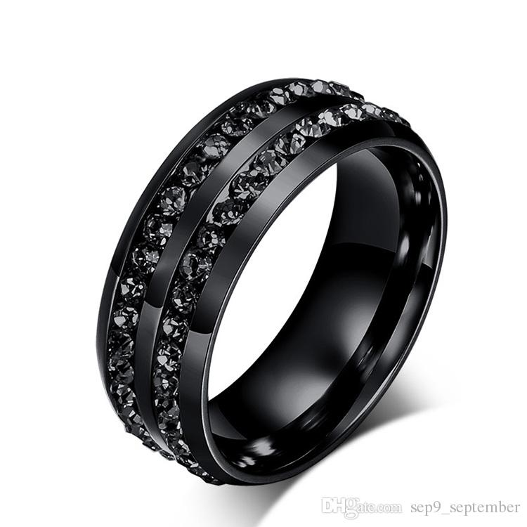 Fashion Stainless Steel Jewelry Diamond Rings Korean Titanium Steel