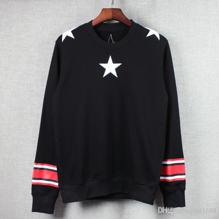 2016 Hot Sales men Hoodies Casual sports Long sleeve sweatshirt pullover Wool cloth with soft nap of stars coat jacket outwear Tops