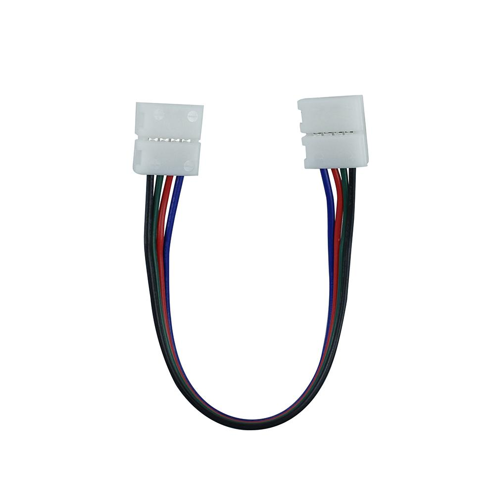 Best price !1pcs/lot, 10mm 4pin RGB LED strip connector wire,led  connectors,double connectors for strip jointing! free shipping