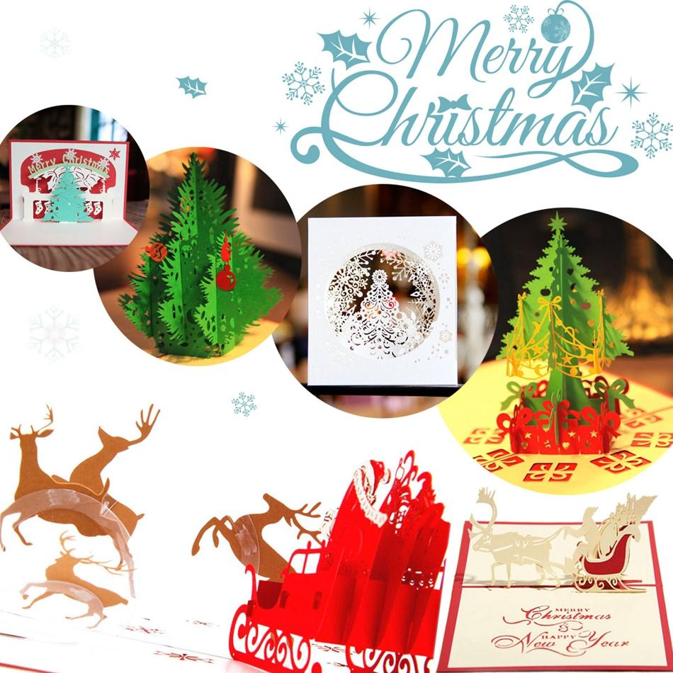 Vintage 3d Pop Up Greeting Card Vintage Merry Christmas Cards Gifts