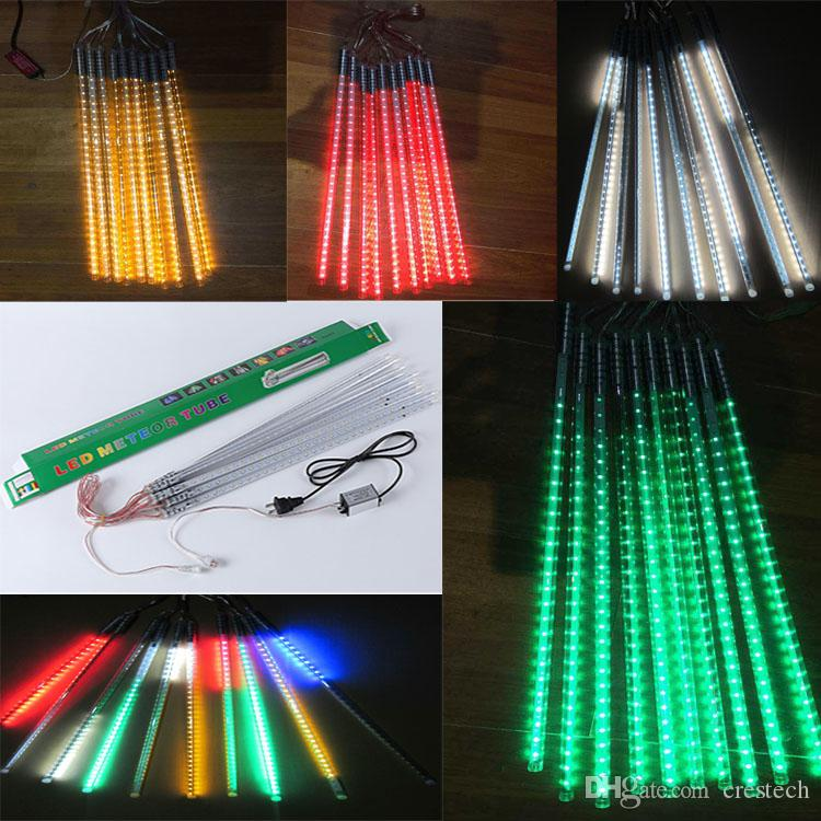christmas light meteor lights led outdoor christmas lights ice tubes 80cm tube led fairy light strings colorful neon ac85 265v warm white led string lights
