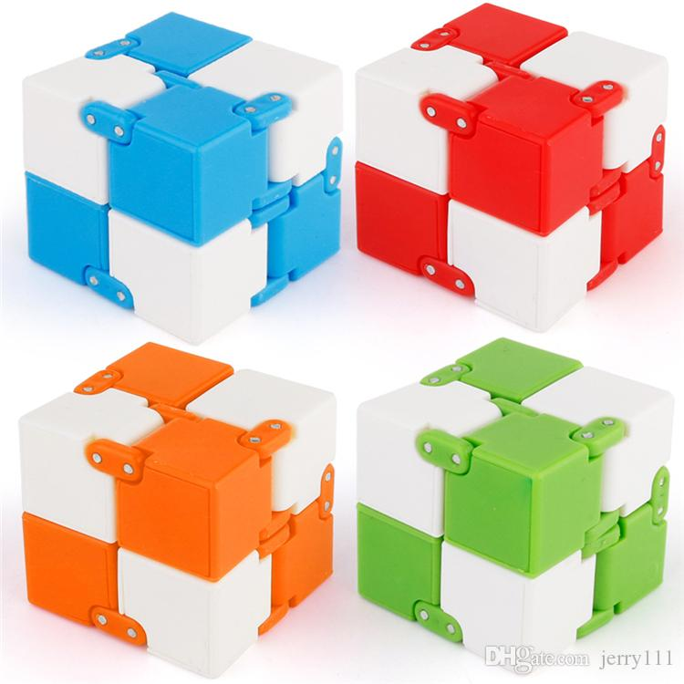Infinity Cube Mini Fidget Toy Finger EDC Anxiety Stress Relief Magic Cube Blocks Adult Children Kids Funny Toys With Retail Box LA555-2