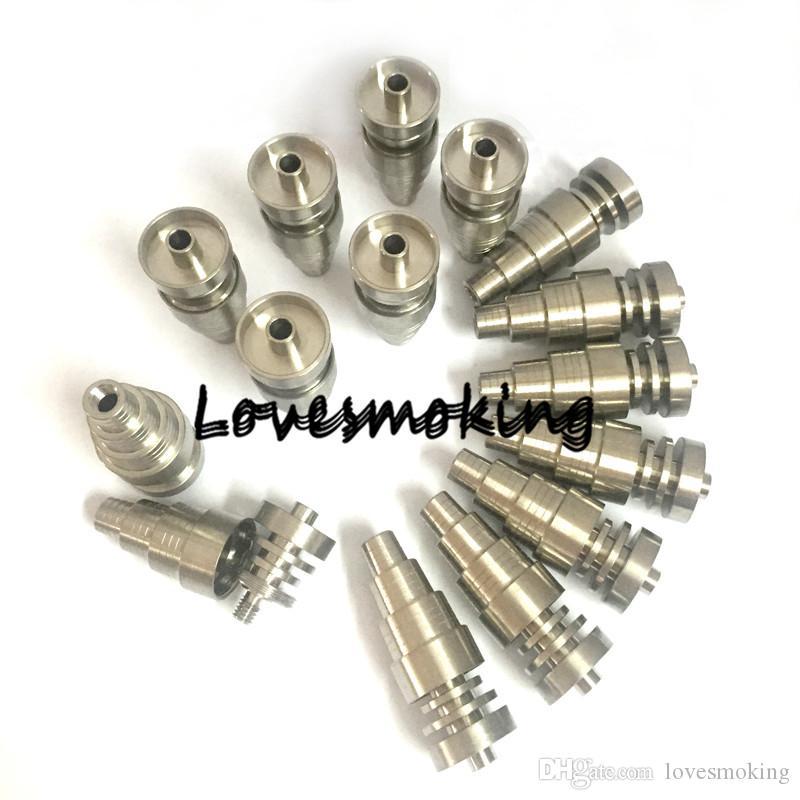 Prix usine 6 en 1 sans domique ongles ttitanium grade 2 huile Rigs ttitanium clou bang 10mm 14mm 18mm mâle femelle
