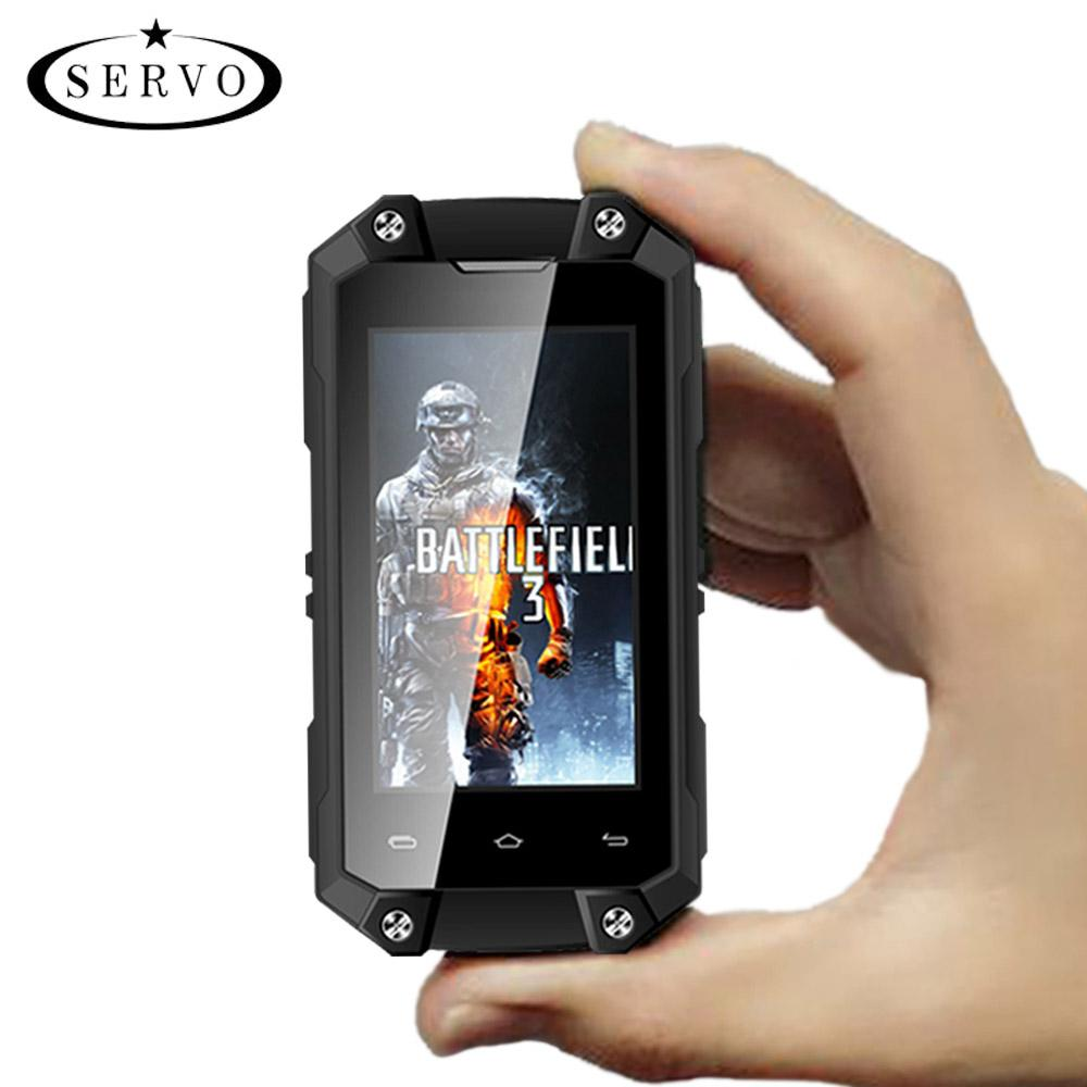 Smartphone MTK6580 Mobile Phone mini Android 5.1 RAM 1GB ROM 8GB Camera 5.0MP WCDMA IP65 Waterproof