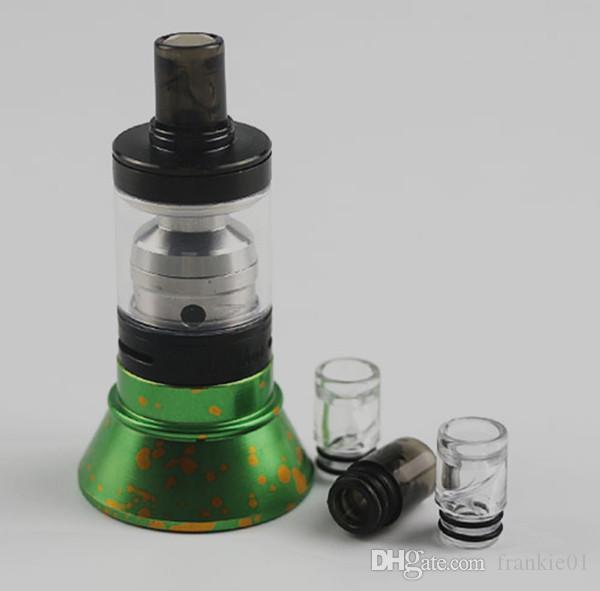 510 puntas de goteo en espiral de plástico transparente negro vape boca punta anti escupida puntas de vapor kangertech boquilla