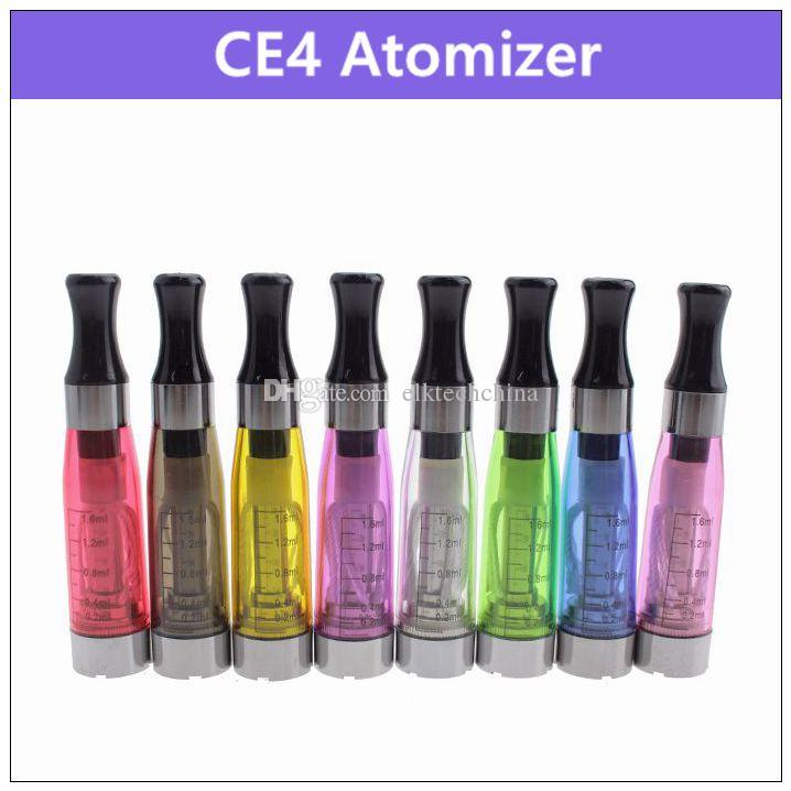 CE4 electronic cigarette atomizer 1.6ml - . ecig vaporizer clearomizer 510 thread for battery vision spinner EVOD ego twist x6 x9