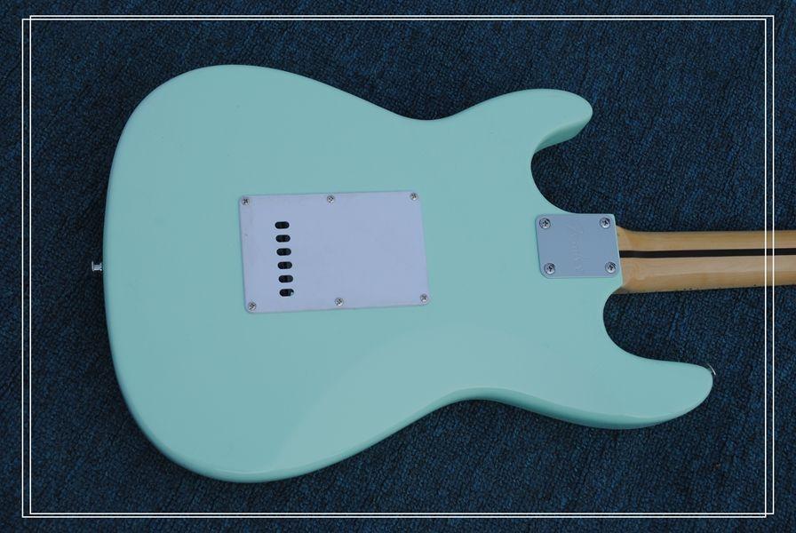Китайская гитара светло-синий St электрогитара клен гриф Бесплатная доставка