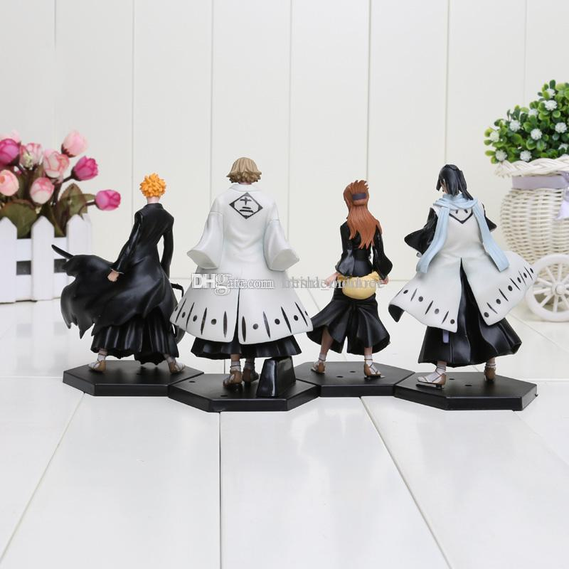 anime Bleach figure Kurosaki Ichigo Kuchiki Byakuya PVC Action Figure Model Toy Doll approx 15cm