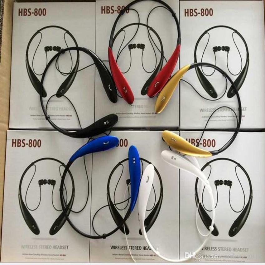 / HB800 Kopfhörer Wireless Stereo Headsets HBS 800 Sport Nackenbügel Kopfhörer In-Ear mit Kleinpaket