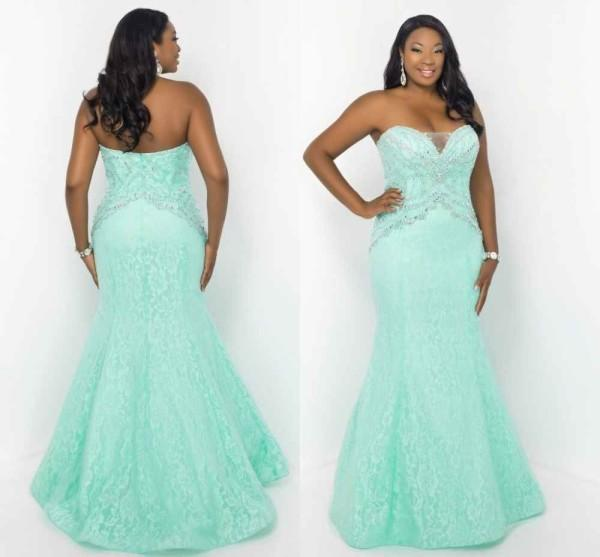 plus size special occasions dresses mermaid style mint green lace
