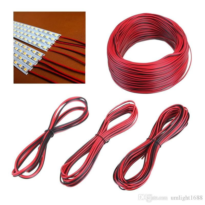 2Pin Led Cable Wire Red Black 12V 24V Led Strip 3528 5050 5630 5730 Cavo elettronico DC a 2 pin