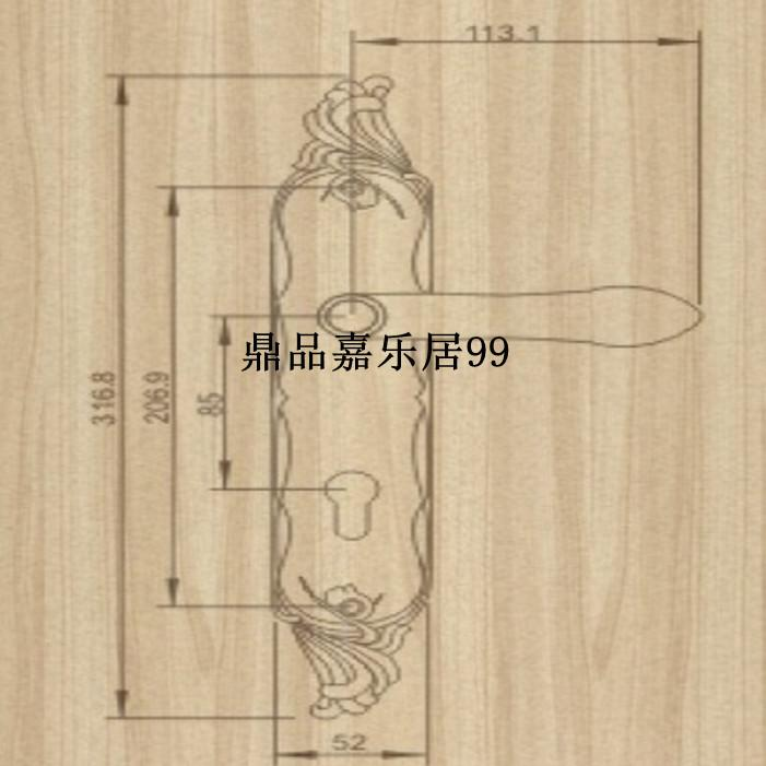 Otantik Tayvan goodlink topsystem bakır bakır kilit kilitleri Avrupa iç yatak odası kapı LM 3738 RG