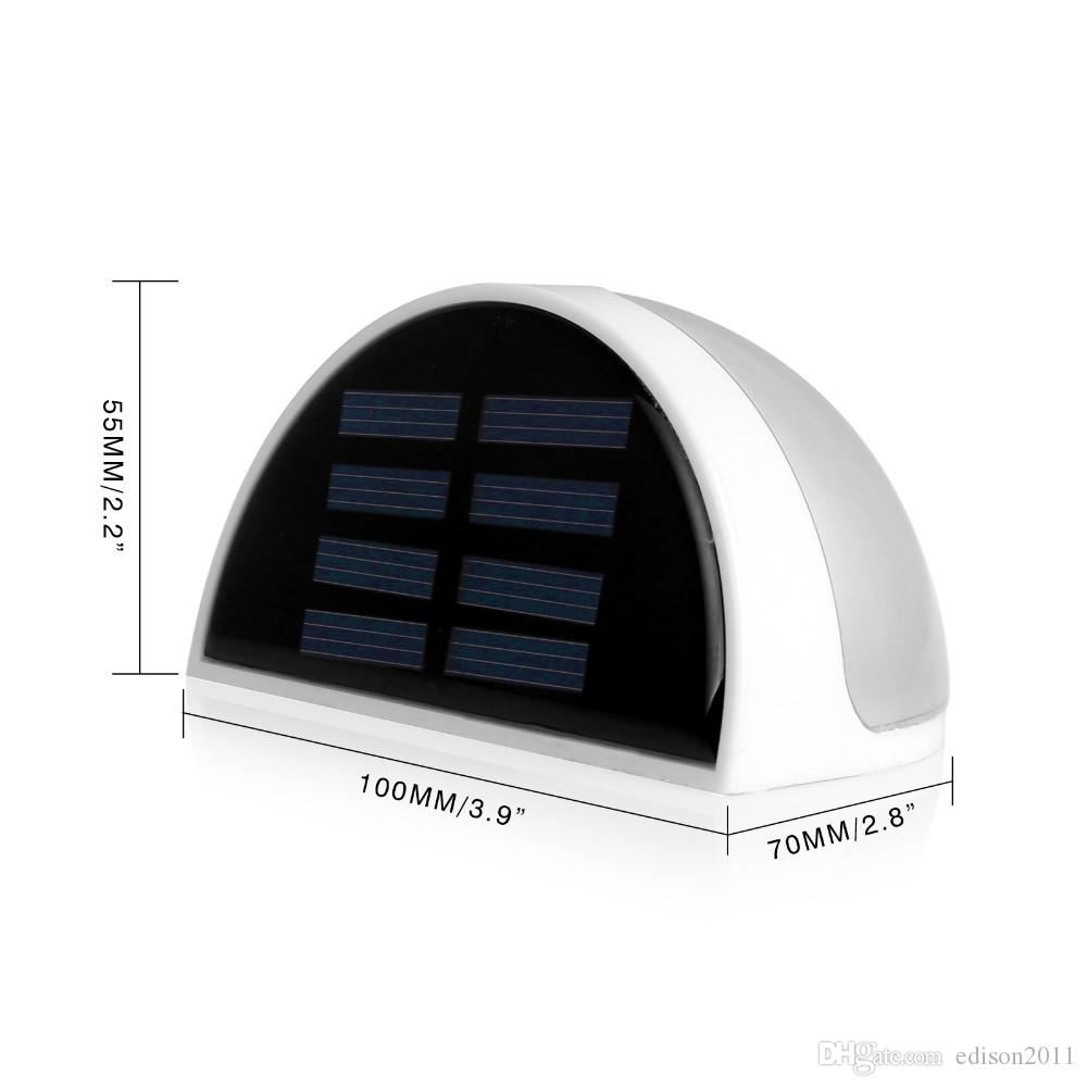 Edison2011 Light-Operated Solar Power Panel Lights 6 LED Light Sensor Waterproof Outdoor Fence Garden Pathway Wall Lamp Lighting