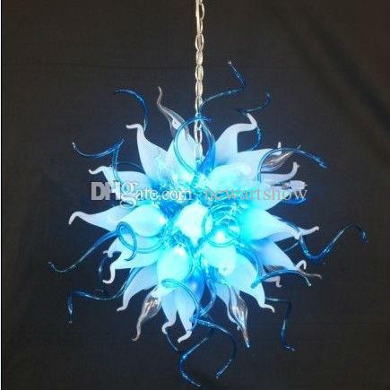Plafoniera italiana di design floreale rotondo 100% in vetro soffiato di Murano Camera da letto in cristallo decorativo a buon mercato Mini lampadario