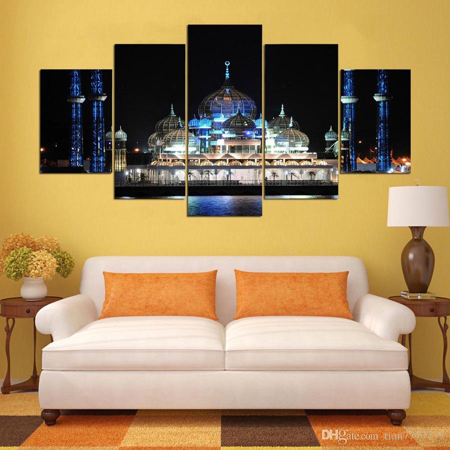 2018 Modern Mosque Oil Painting Unframed Canvas Print Pictures For ...