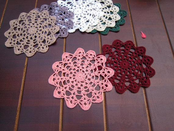Of Colorful Round Doily For Deamcatcher Dimeter14 Cm Round