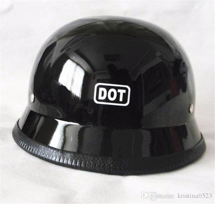 2017 New High quality WWII Style German Motorcycle Half Helmet Vintage Chopper Cruiser Casco DOT Approved