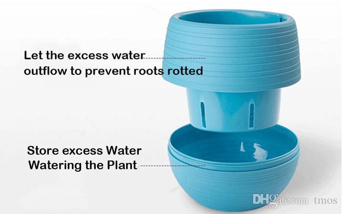 Vente en gros MOQ coloré Mini Pots de fleurs détachables arrosage Flowerpot pour Succulent Jardin Incassable Nursery plastique Pots