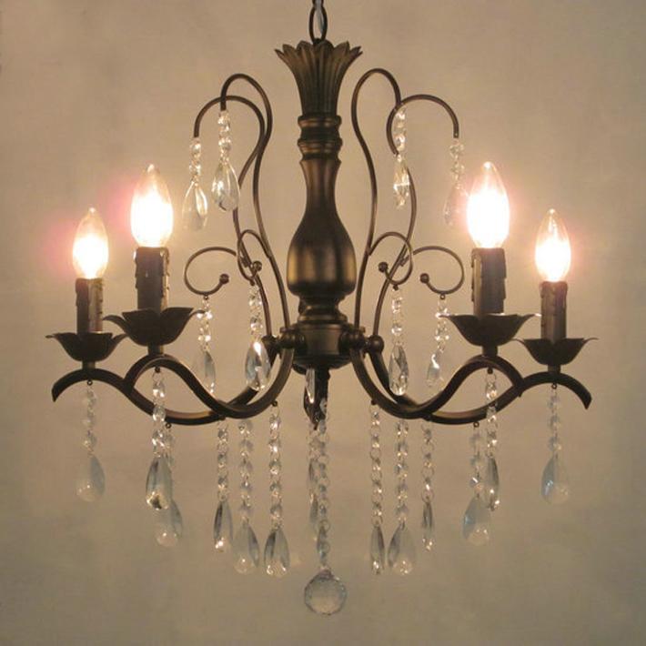 for foyer living room bedroom dinning room use matt black vintage black chandelier crystal led pendant light track pendant lighting ceiling lighting - Kronleuchter Fur Foyer