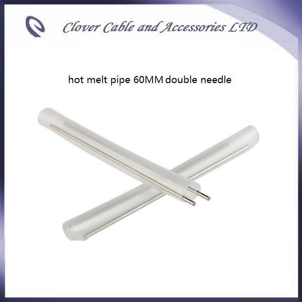 Ücretsiz Kargo 100 ADET optik fiber daralan tüp 60mm fiber kablo çift iğne ile sıcak eriyik boru