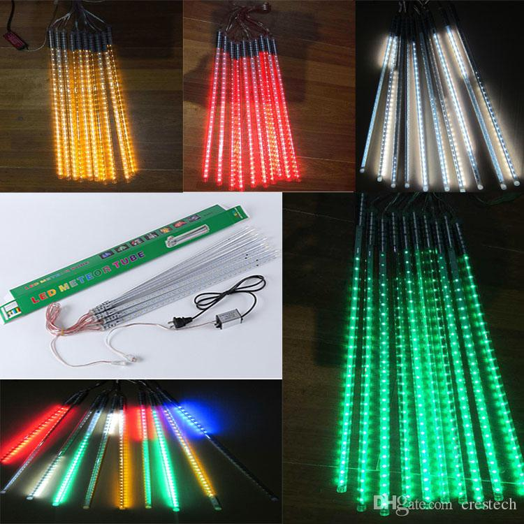Meteor Ice Tubes 30cm 50cm 80cm Led Fairy Garden Led Fairy Light Colorful  Neon Sings For Festival Decoration Ac85 265v Led Strip Lights Led Strips  From ...