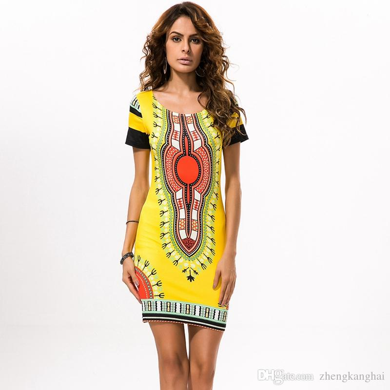 2016 Summer Dresses For Womens Sexy Mini African Traditional ...