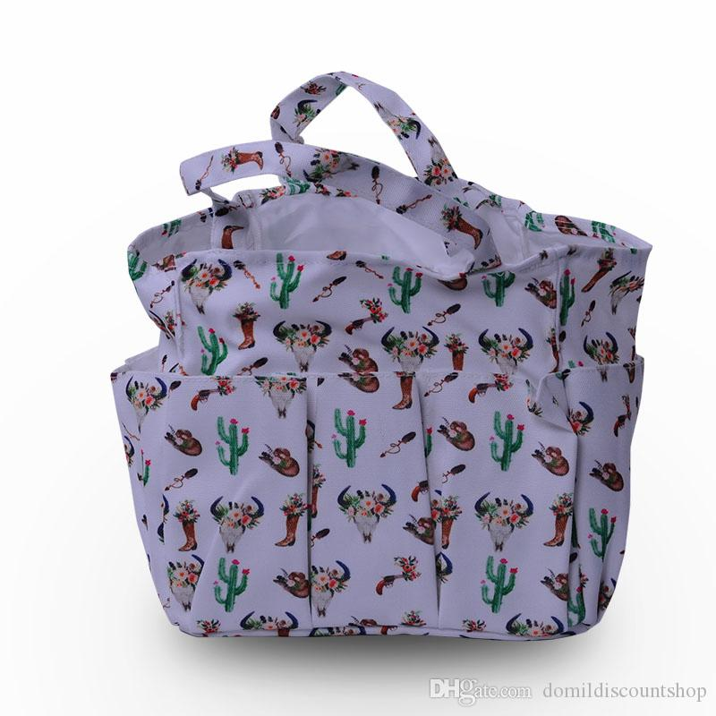 2018 Bullskull Cactus Arrows Printing Utility Tote Garden Tool Bags With  Many Outside Pockets Organizer Pockets Tote Bag Dom10659 From  Domildiscountshop, ...