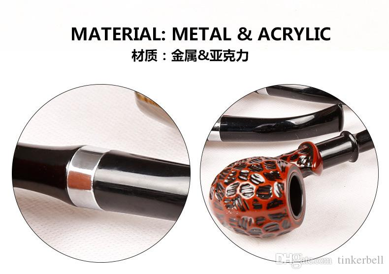 Fashion Gift Wood Color Smoking Pipes Metal & Acrylic Material Gift Packaging Pipes For Smoking 4 Types TZ001/TZ002/TZ004/TZ005