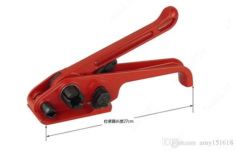 SD330 Ручной инструмент для обвязки полиэфирной лентой, ручной натяжитель обвязки + герметик для 19-мм ленты PP / PET, ручной инструмент для обвязки ПЭТ