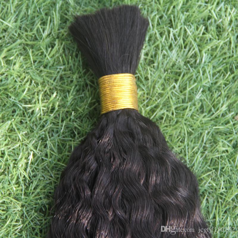 Pelo humano recto rizado 100g Yaki Human Bundles Pelo humano a granel para trenzar a granel Sin accesorios Pelo a granel brasileño italiano Yaki