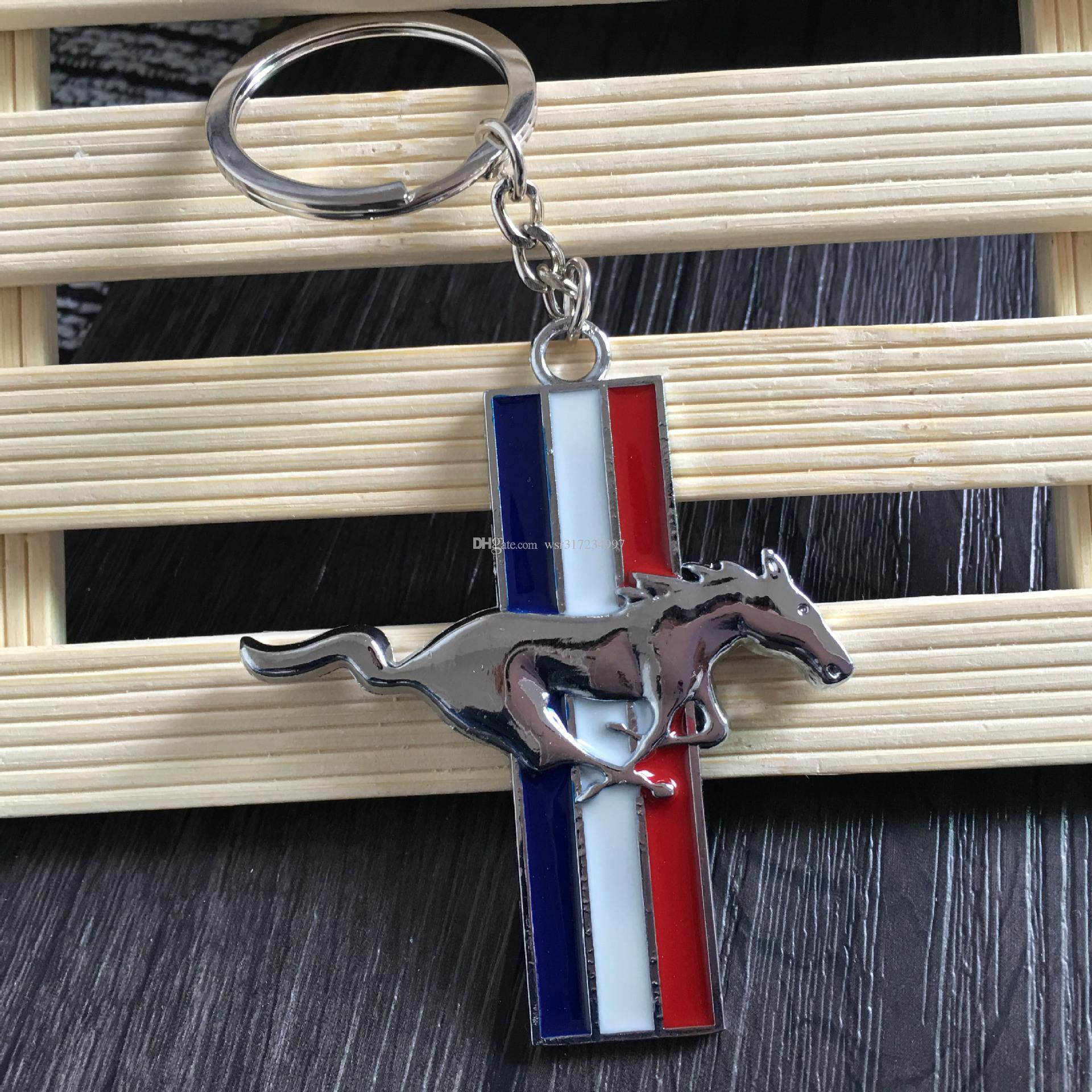 3D Moda chaveiro para Ford Mustang Logotipo Chaveiro personalidade Logotipo Pingente de carro Mustang logotipo emblema chaveiro 4S loja de promoção de vendas de presente