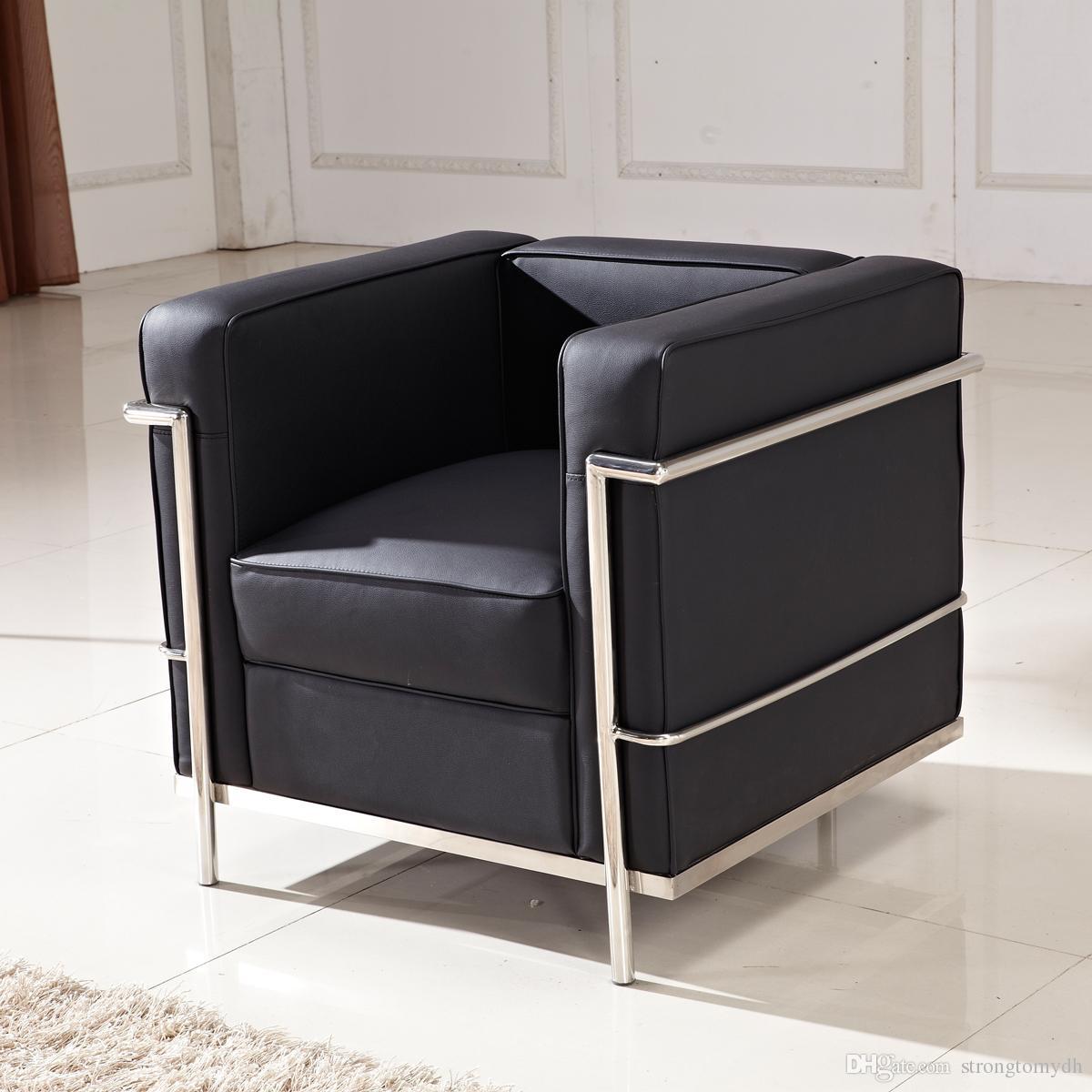 2018 Le Corbusier Lc2 Petit Comfort Sofa Chair,Genuine Leather ...
